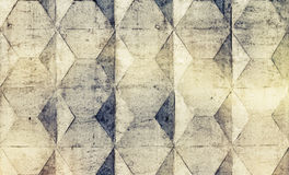 Texture de fond de vieille barrière concrète grise avec le bagout carré Image libre de droits
