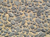 Texture de fond de vieille couche de surface de pavé rond Photo stock