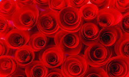 Texture de fond des roses rouges faites à partir du papier Image stock