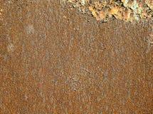 Texture de fond du feuillard de rouille de couleur rouge et orange, couvert de rouille photographie stock