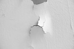 Texture de fond du mur en béton grunge blanc avec la peinture d'épluchage Images libres de droits
