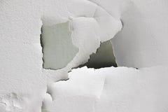 Texture de fond du mur en béton sale blanc avec la peinture d'épluchage Photos stock
