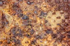 Texture de fond en métal de rouille Photos libres de droits
