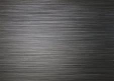 Texture de fond de métal argenté foncé balayé Images stock
