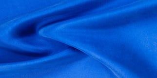 Texture de fond, modèle Profondément profondément tissu en soie de col bleu image libre de droits
