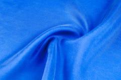 Texture de fond, modèle Profondément profondément tissu en soie de col bleu photographie stock