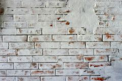 Texture de fond de mur de briques de TWhite photo libre de droits