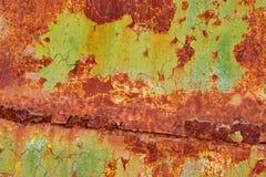 Texture de fond de mur de fer peint par vintage photo stock