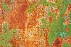 Texture de fond de mur de fer peint par vintage photo libre de droits