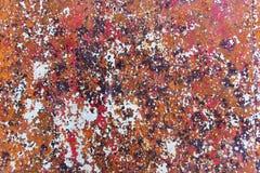 Texture de fond peint rouillé de mur de fer de cru photo stock