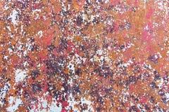 Texture de fond peint rouillé de mur de fer de cru photos stock