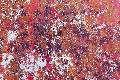 Texture de fond peint rouillé de mur de fer de cru image stock