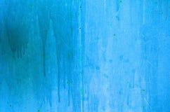 Texture de fonte bleue de vintage de fond rouillé de mur et grise avec beaucoup de couches de peinture photos stock