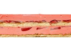 Texture de gâteau sur le blanc image stock