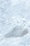Texture de glace avec des fissures Photographie stock
