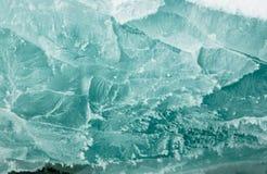 Texture de glace de Baikal Photographie stock