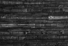 Texture de Grey Old Log Cabin Wall Texture en bois Mur rustique foncé de rondin de Chambre Fond boisé horizontal image libre de droits