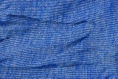 Texture de gris bleu de tissu chiffonné de laine Photos stock