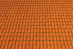 Texture de haute qualité rouge de tuiles de toit Photo stock