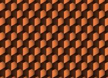 texture de l'en cuivre 3d avec des ombres et des cubes Illustration Libre de Droits