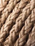 Texture de la corde du bateau de plan rapproché Photo libre de droits