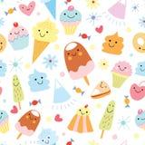 Texture de la crême glacée et du gâteau d'amusement Photo libre de droits