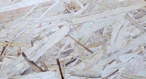 Texture de la feuille OSB de matériau de construction Photographie stock libre de droits