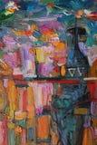 Texture de la peinture à l'huile auteur peignant Roman Nogin entretien du ` s de femmes de ` de série ` images libres de droits