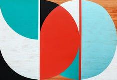 Texture de la surface en bois colorée image libre de droits