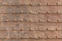 Texture de la vieille porte de fer Photos libres de droits