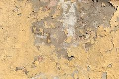 Texture de la vieille surface beige de épluchage de mur images libres de droits