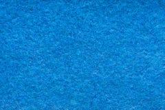 Texture de laine bleue de tissu Images stock