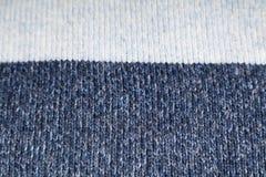 Texture de laine bleue et blanche Image libre de droits
