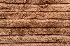 Texture de laine lisse brune photos libres de droits