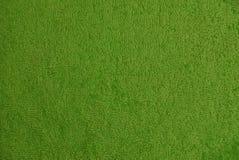 Texture de laine verte de tissu sur la serviette Photos stock
