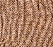 Texture de laines de Brown Photographie stock libre de droits
