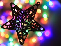 texture de lumières de Noël de couleur Image libre de droits
