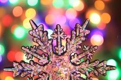 texture de lumières de Noël de couleur Images stock