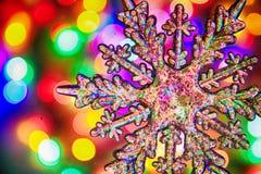 texture de lumières de Noël de couleur Photographie stock libre de droits