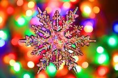 texture de lumières de Noël de couleur Photo stock