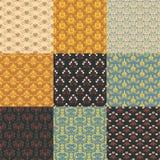 Texture de luxe royale décorative de fond de texture de vintage de rétro modèle sans couture floral de vecteur de vintage avec de Images stock