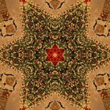Texture de Mandala Kaleidoscope d'abrégé sur arbre de Noël photos stock