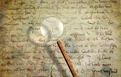 Texture de manuscrit de vintage sur le parchemin Images stock