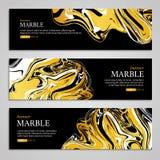 Texture de marbre banner3 Illustration Libre de Droits