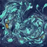 Texture de marbre décorative Peinture abstraite Fond à la mode pour l'impression et les sites Web Peintures de couleur sur l'obsc Image stock
