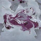 Texture de marbre décorative Peinture abstraite Fond à la mode pour l'impression et les sites Web Peintures de couleur sur le gri Photo libre de droits