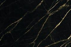 Texture de marbre d'or avec le modèle naturel pour l'oeuvre d'art de fond ou de conception Photos stock