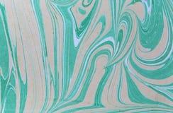 Texture de marbre d'encre Fond fait main de vague d'Ebru Surface de papier d'emballage Illustration unique d'art Texture de marbr image stock