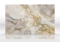 Texture de marbre d'or de tuile illustration stock