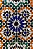 Texture de marbre florale arabe de tuile de mosaïque Photographie stock libre de droits